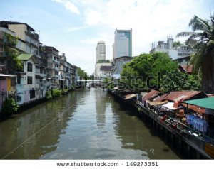 low-and-high-rise-buildings-poor-and-rich-comparison-a-waterfront-in-bangkok-149273351
